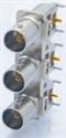 Bild von CANARE BCJ-BPLH3PA 75 Ohm BNC Buchse dreifach printbar